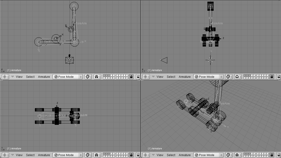how to move armature without moving mesh