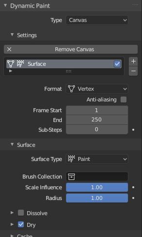 Dynamic Paint Canvas — Blender Manual