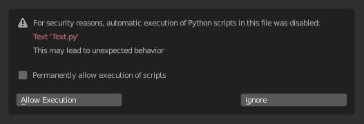 Scripting & Security — Blender Manual