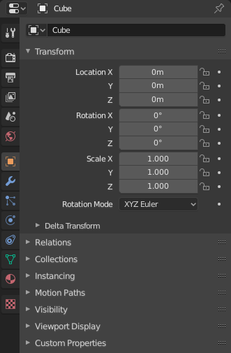 Properties Editor — Blender Manual