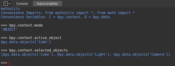 Python Console — Blender Manual