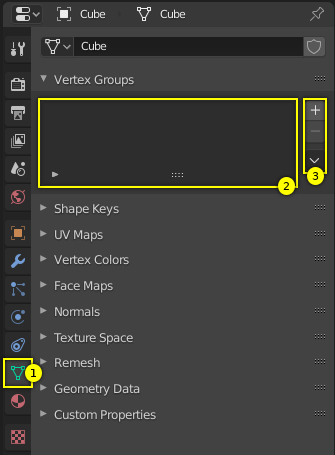 Assigning a Vertex Group — Blender Manual