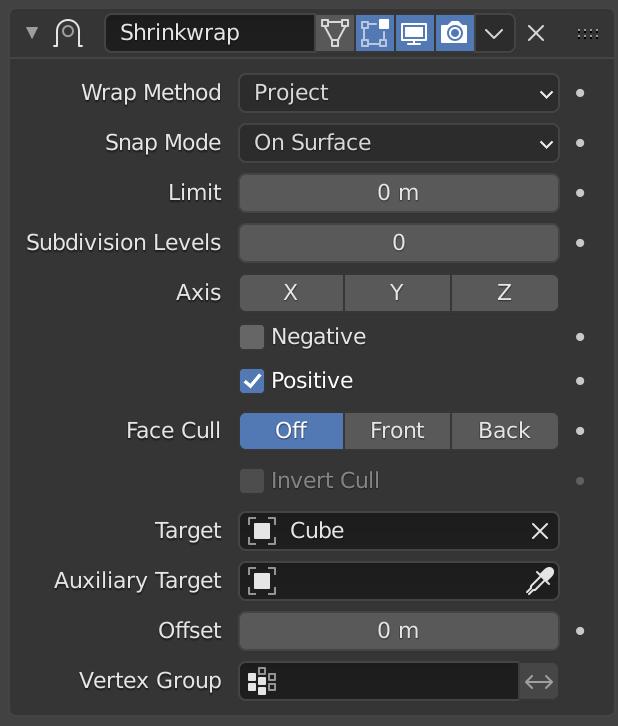 Shrinkwrap Modifier — Blender Manual