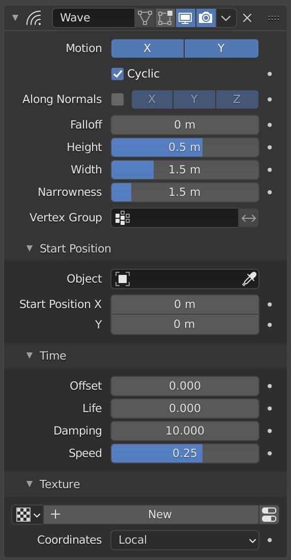 Wave Modifier — Blender Manual