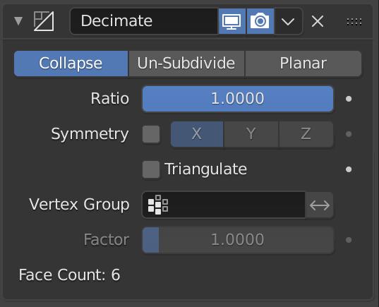 Decimate Modifier — Blender Manual