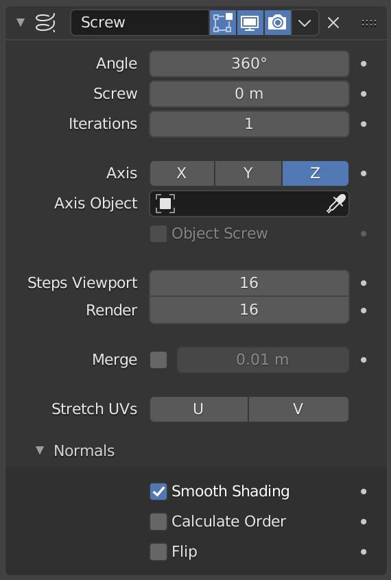 Screw Modifier — Blender Manual