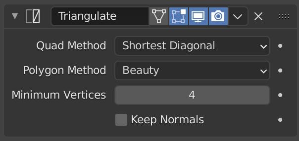 Triangulate Modifier — Blender Manual