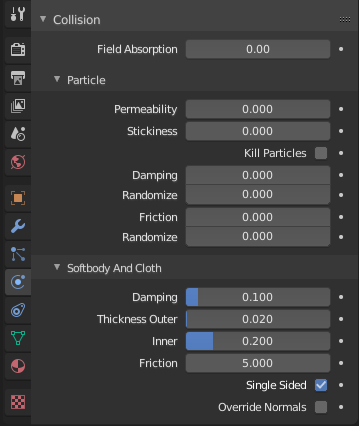 Collisions — Blender Manual