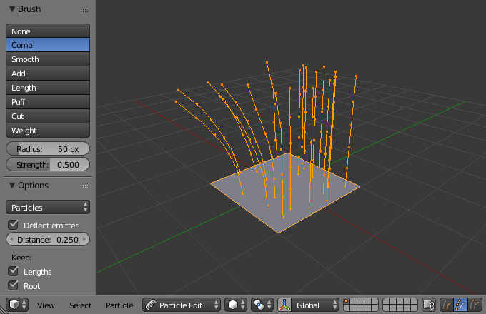 Particle Edit Mode — Blender Manual