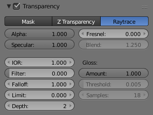 Transparency Blender Manual